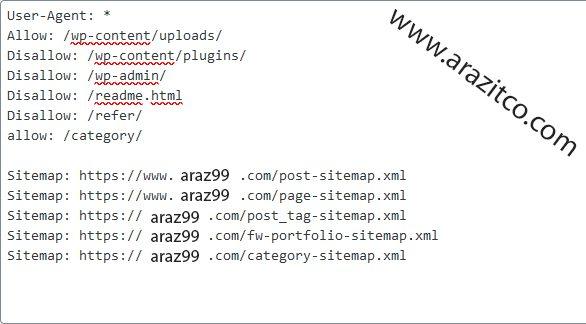 ثبت sitemap در فایل robot.txt