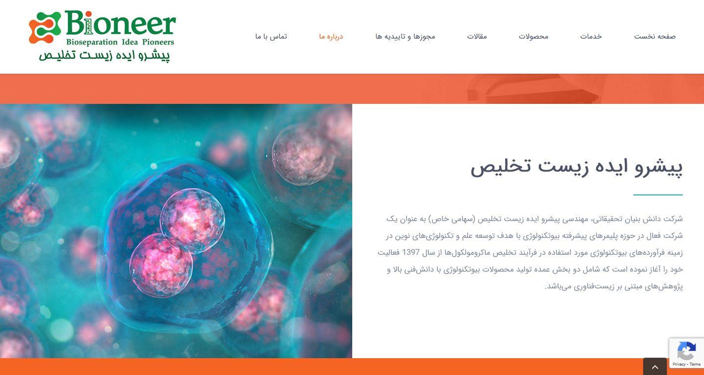 طراحی سایت شرکت بیونر