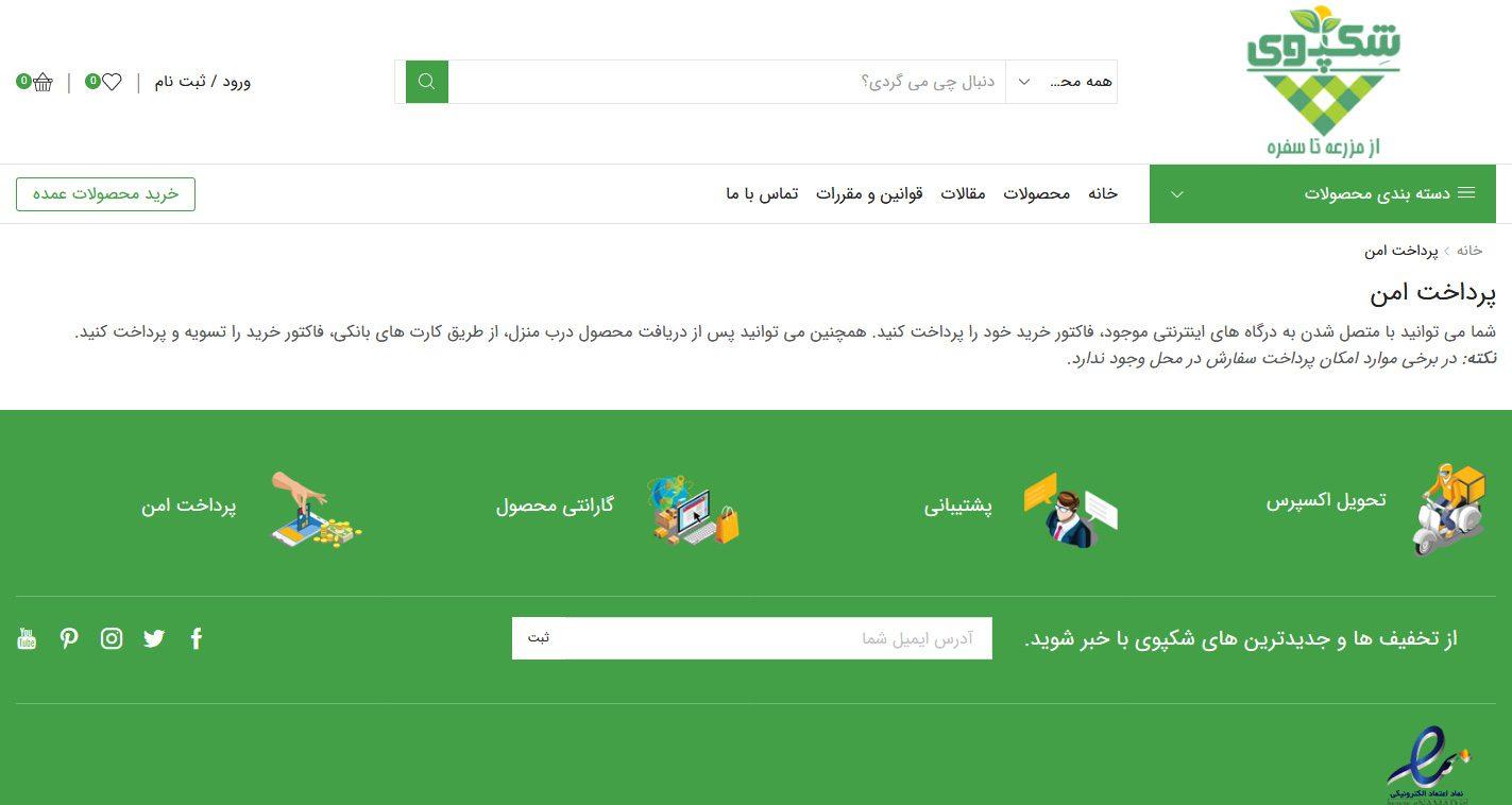 طراحی سایت شکپوی