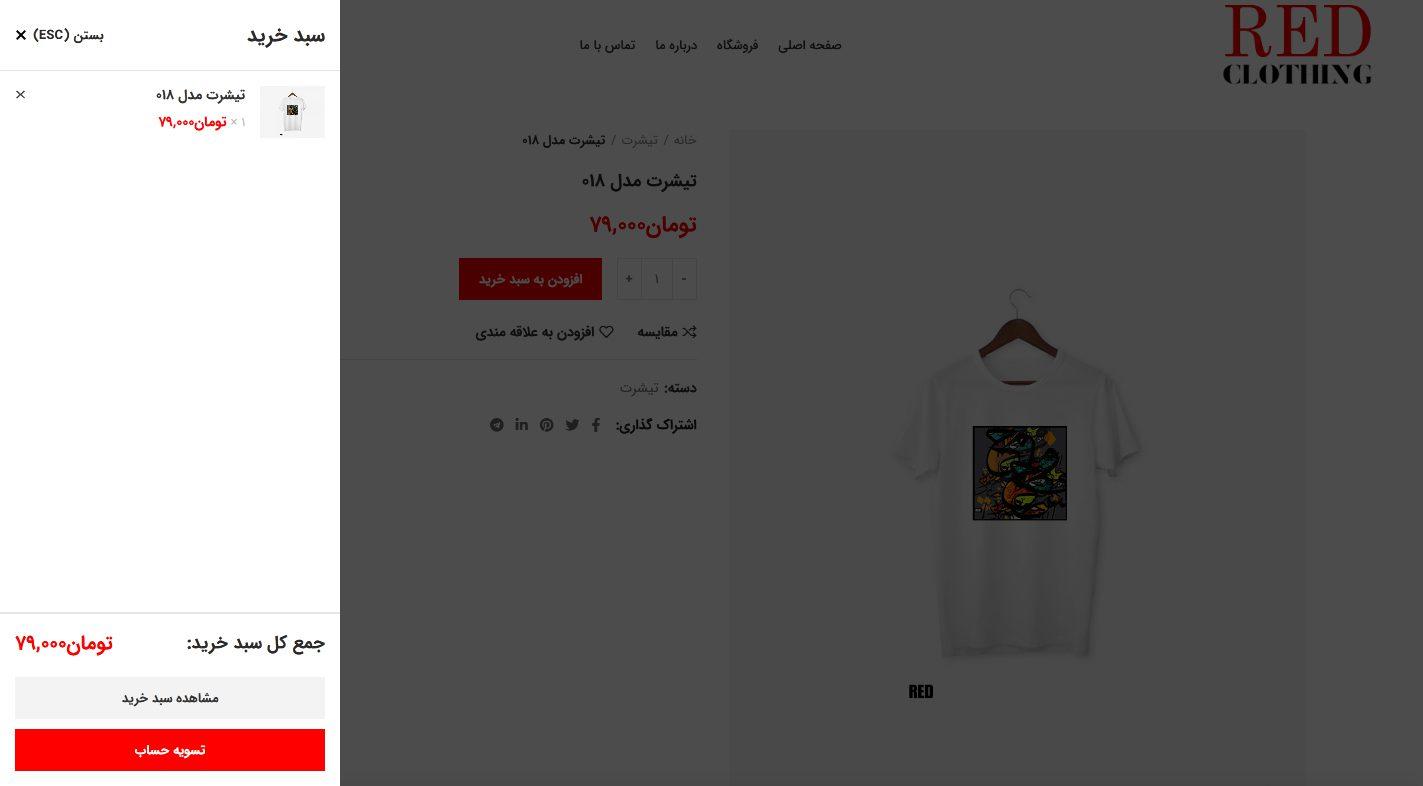 طراحی سایت فروشگاه ردکلوزینگ