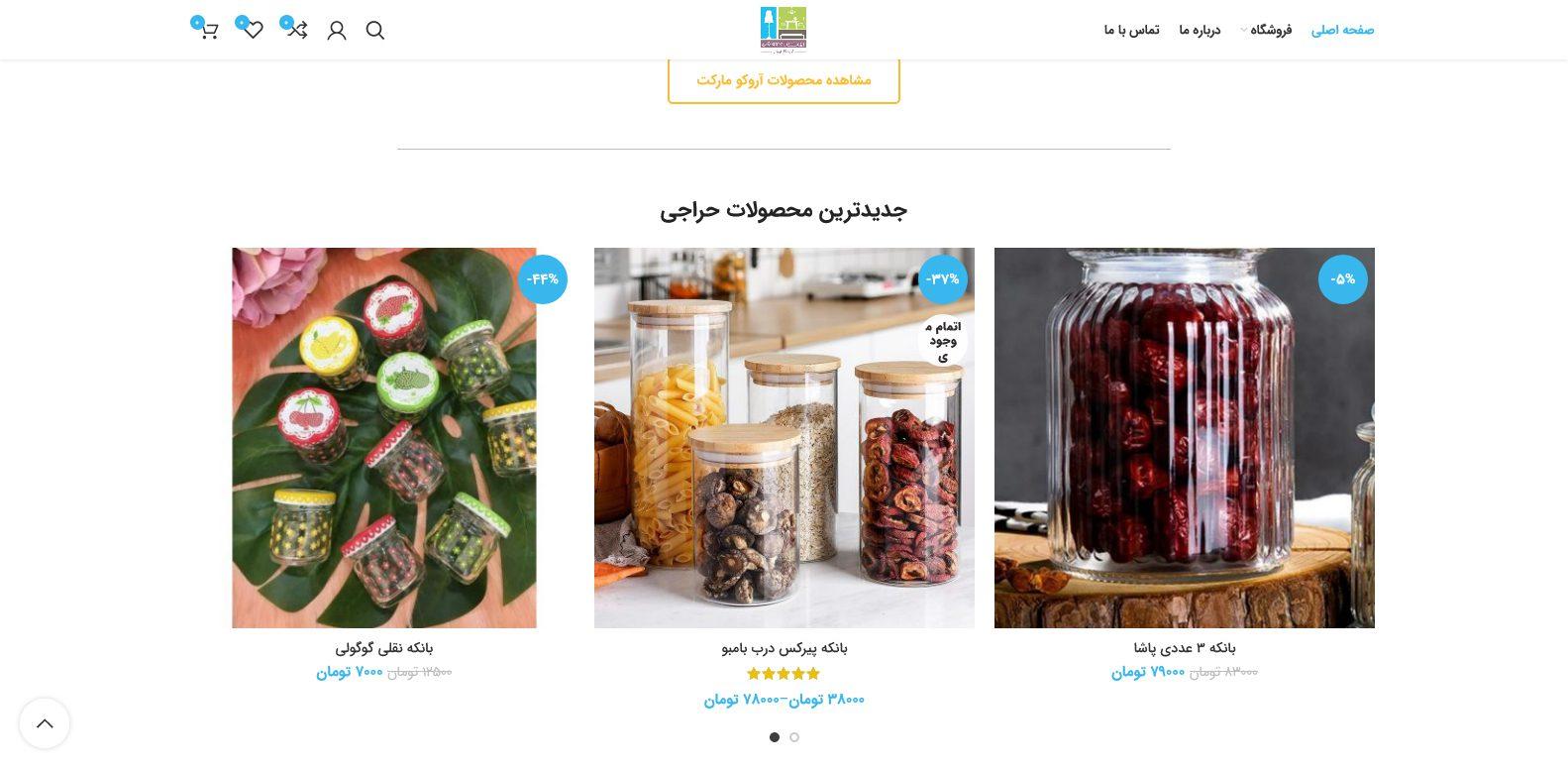 طراحی سایت فروشگاه آروکو لند